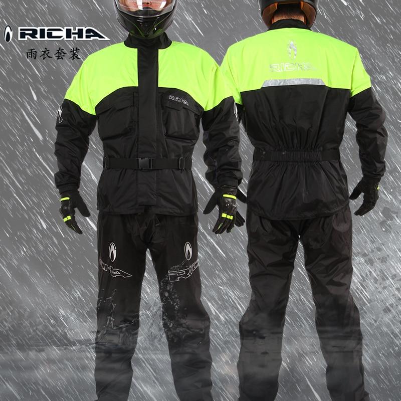 Belgium RICHA Motorcycle Riding Raincoat Suit Knight Equipment Split Outdoor Windproof Waterproof Clothes