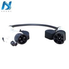 Khons EVSE EV адаптер SAE J1772 тип 1-Тип 2 16A 32A разъем Электрический автомобиль зарядный кабель Разъем Портативный EV зарядное устройство