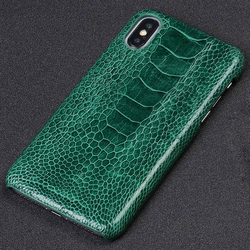 100% Genuine Ostrich Leather Phone Case for Apple iPhone X 11 11 Pro Max XS XR XSMAX 8 8 Plus 7 7plus 6s 6 5 5S SE Luxury Cover