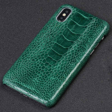 100% Genuine Ostrich Leather Phone Case for iPhone X 11 Pro Max 12 Mini XR XS 12 Pro MAX 7 8 Plus 6s 6 5 SE 2 2020 Luxury Cover