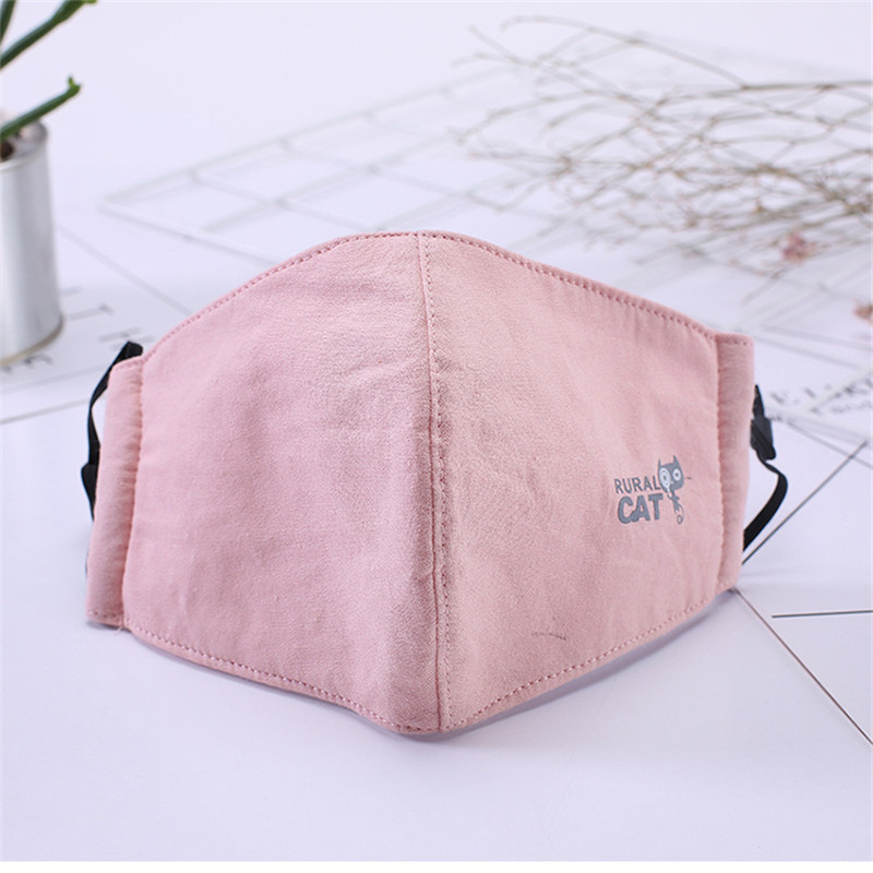 10pcs/Bags Winter Cotton Warm Dust-proof Anti-haze Mask Men And Women Fashion Korean Three-dimensional Padded Printing