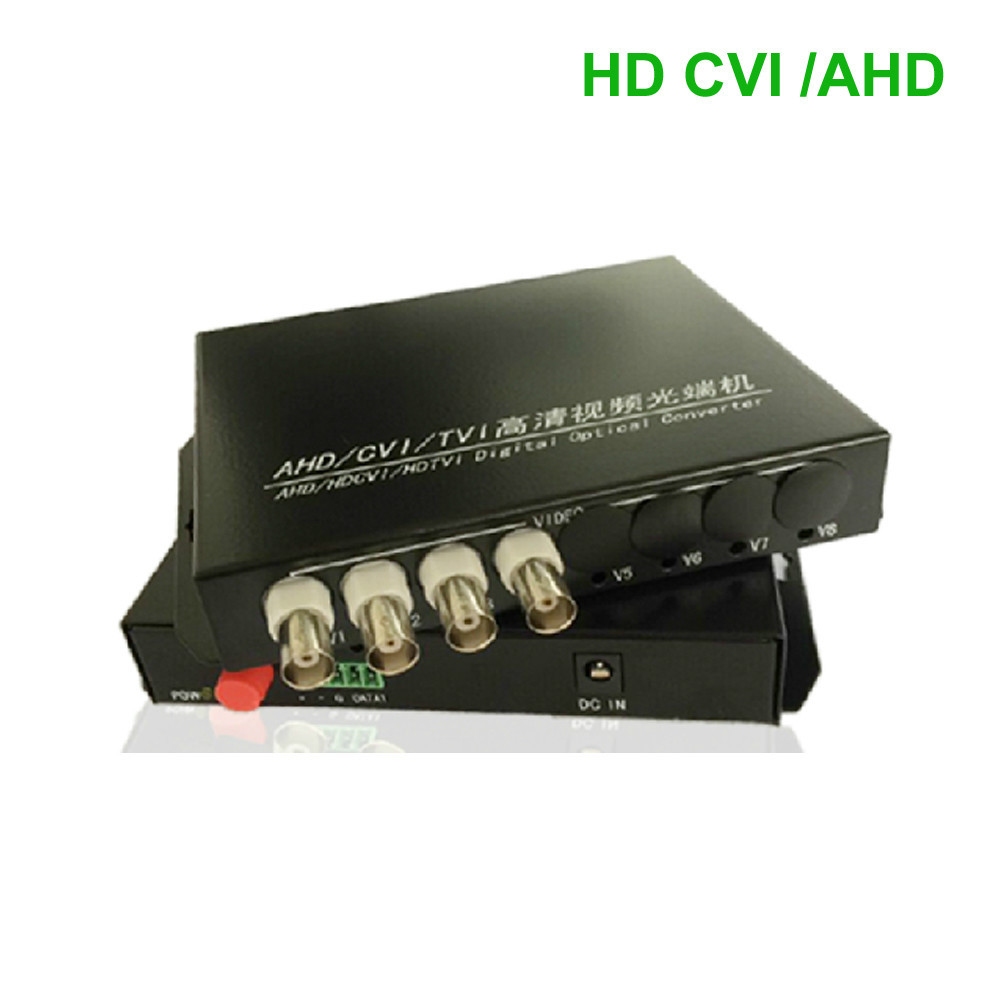 HD CVI AHD 4 Channel Video/RS485 data optical Media Converter Transmitter Receiver -1Pair  for 720P 960P AHD CVI HD cameras CCTVHD CVI AHD 4 Channel Video/RS485 data optical Media Converter Transmitter Receiver -1Pair  for 720P 960P AHD CVI HD cameras CCTV