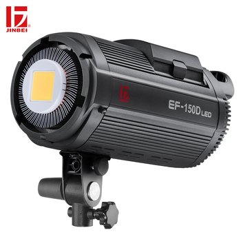 JINBEI EF-150D 150W Battery Powered LED Video Light Kit 5500K DC Continuous Output Dimmable Photography Lamp Bowens Mount