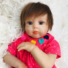 50cm wholesale Cute BeBe Reborn Doll PP Cotton Body Silicone Reborn Baby Dolls Lifelike Newborn Baby Gift Juguetes Babies Toys 50cm reborn babies dolls toys for children soft cloth body silicone vinyl newborn baby dolls high quality doll toys xmas gift