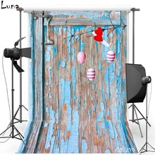 Happy Easter Vinyl Photography Background Backdrop For Newborn Wood Door New Fabric Flannel Backdrop For photo studio 210