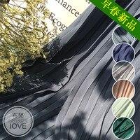 Однотонная одежда 100 раза жемчужина ткань импортируется аккордеон плиссированные шифоновые юбка платье ткань