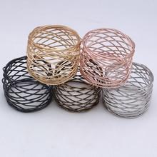 TAI Top 6 шт. круглые сетчатые кольца для салфеток, металлический держатель для полотенец, кольцо для отелей, свадеб, вечеринок, ежедневного использования, украшение стола