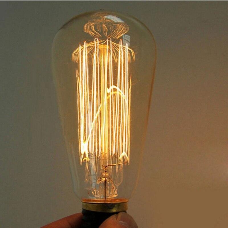 New Retro Light Edison Bulb ST64 E27 25W Vintage Incandescent Lamp Bulb Filament Bulb Home Bar Decor Pendant Lighting Bulb 220V