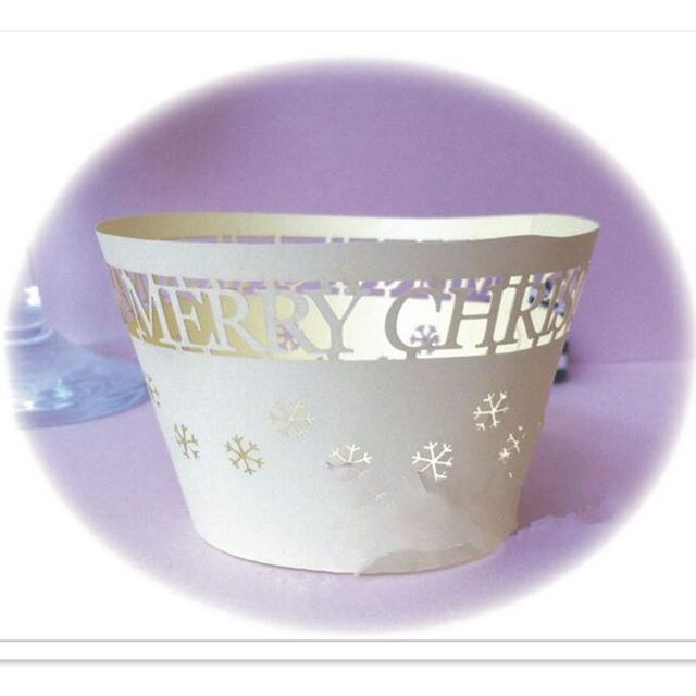 50pcs Merry Christmas Cupcake Wrappers, Cup cake Muffin Paper Wrapper  Christmas Birthday Party Home Decoration Supplies