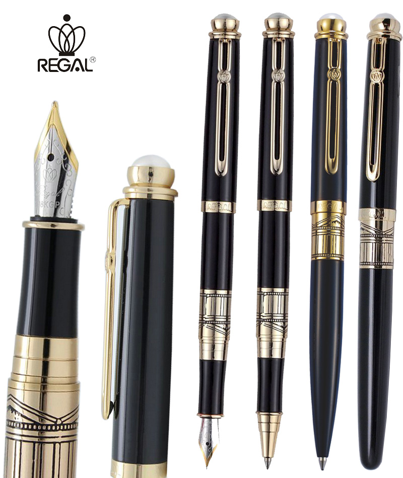 Black Fountain Pen / RollerBall pen / Ballpoint pen REGAL 19-200  the best gift FREE SHIPPING клавиатура microsoft wired keyboard 600 usb черный anb 00018