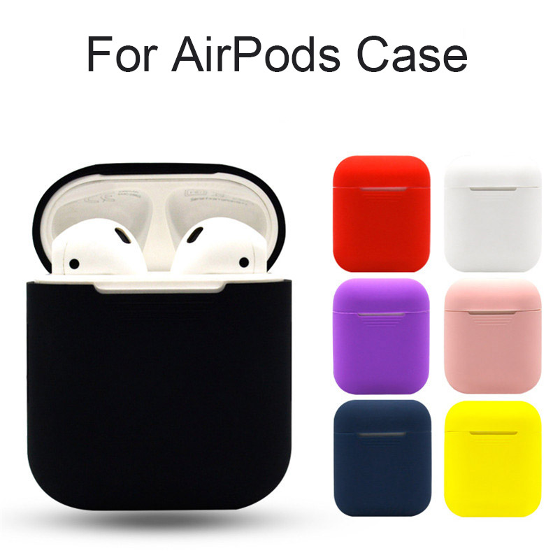 Soft Silicone Case For Airpods For Air Pods Shockproof Earphone Protective Cover Waterproof for iPhone 7 8 6 Headset Accessories