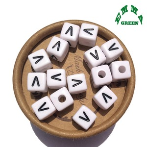Image 5 - Beads for Jewelry Making Letter Beads 10mm 550pcs A Z Separate Alphabet Beads White Beads Square Beads for Kids Acrylic Beads
