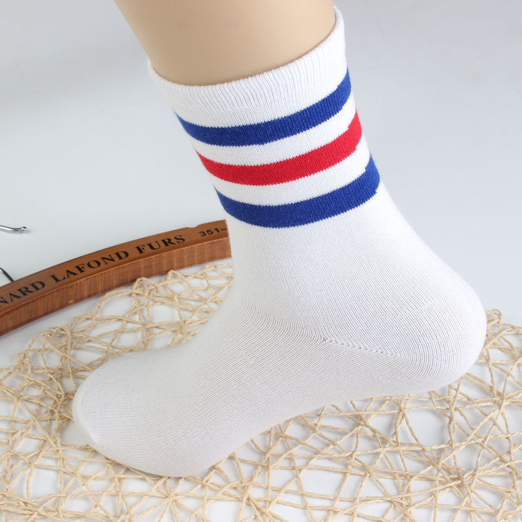 New Men/Women 3 Three Stripes Cotton Crew Casual Socks Retro Old School Hiphop Short Meias Calcetine Fixed Gear White Black Cool