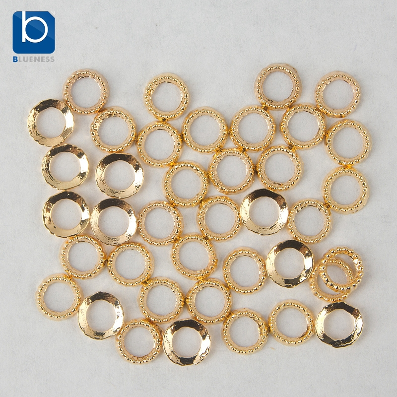 Blueness nail art gold ring charms decoration for nails for 5 golden rings decorations