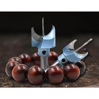 6 30mm Choice Beads Blades Hard Alloy Buddha Knife Milling Tool Round Balls Forming Cutter Wooden