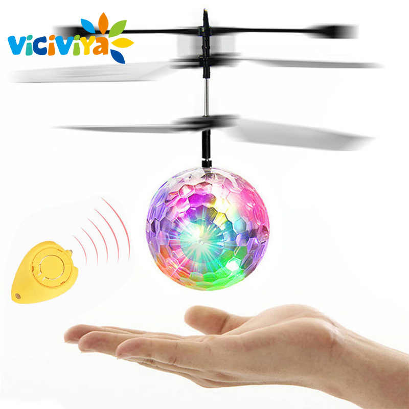 RC Toy EpochAir RC Flying Ball RC Drone Helicopter Ball Built-in Disco Music With Shinning LED Lighting for Kids Teenagers/