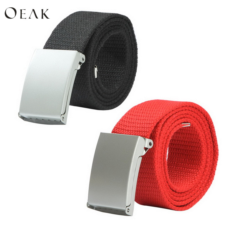 Oeak Fashion New Unisex Trousers   Belts   Canvas   Belt   Breathable Military Tactical Adjustable Waist   Belt