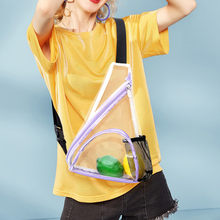 Transparent Waist Bag Pack Clear PVC Fanny Packs Girls Waterproof Travel Chest Bag Plastic Casual Hip Bum Bag Belt Pouch#H30(China)