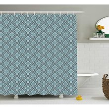 Vixm Turquoise Shower Curtain Moroccan Style Ethnic Shapes