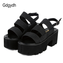 Gdgydh Rome Style Ankle Wrap Fashion Sandali donna 2018 New Summer Ladies Platform Shoes Donna Casual Nero Beige Comodo