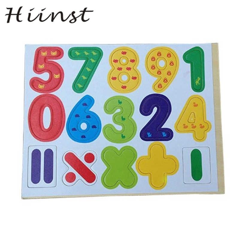 Hiinst 15 шт. деревянные магнитные цифры, математические ребенок учится развивающие игру ...