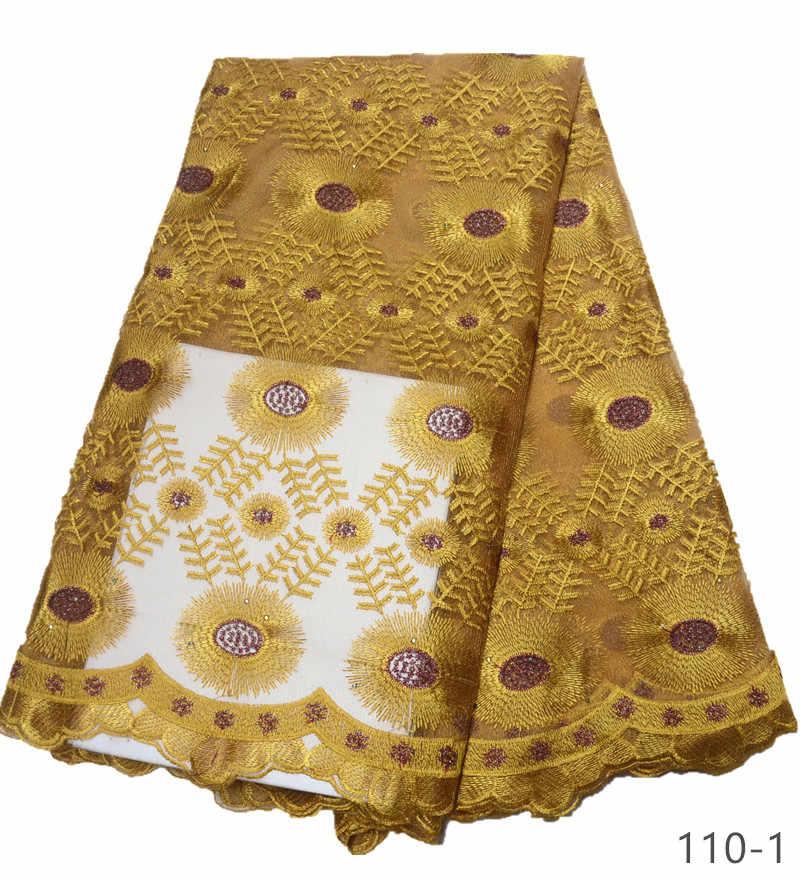 2019 новейшая кружевная ткань Золотая французская кружевная ткань с камнями нигерийская Французская ткань Высококачественная африканская Тюлевая кружевная ткань 110