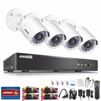 ANNKE 1080P HD Security Camera System 4CH DVR Kit 1080P HDMI CCTV System With 4pcs 2MP