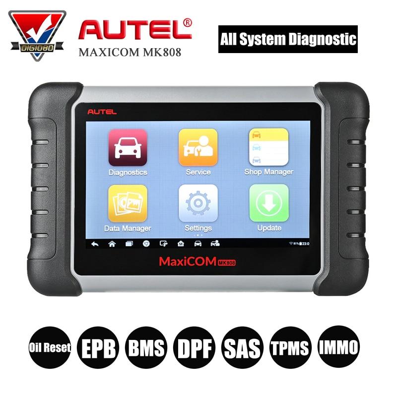все цены на Autel MaxiCOM MK808 Car Diagnostic Tool Full System OBD2 Automotive Wifi Scanner with Oil Reset/EPB/BMS/SAS/DPF/TPMS/IMMO онлайн