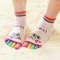 New Arrival Hot 1 PCS Moda Lady Mulheres Meninas Sorriso Five Fingers Instrutor Toe Ankle Socks Frete grátis & distribuição