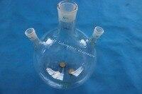 5l 3 목 둥근 바닥 플라스크, 5000 ml, 중앙 조인트 45/40, 측면 2 개의 조인트 24/29, 중벽 (실험 장비)