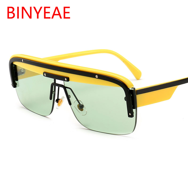 e521e74171 Green Game Eyewear 2019 New Design Luxury Brand Male Sunglasses Half Frame  Summer Black Glasses Men