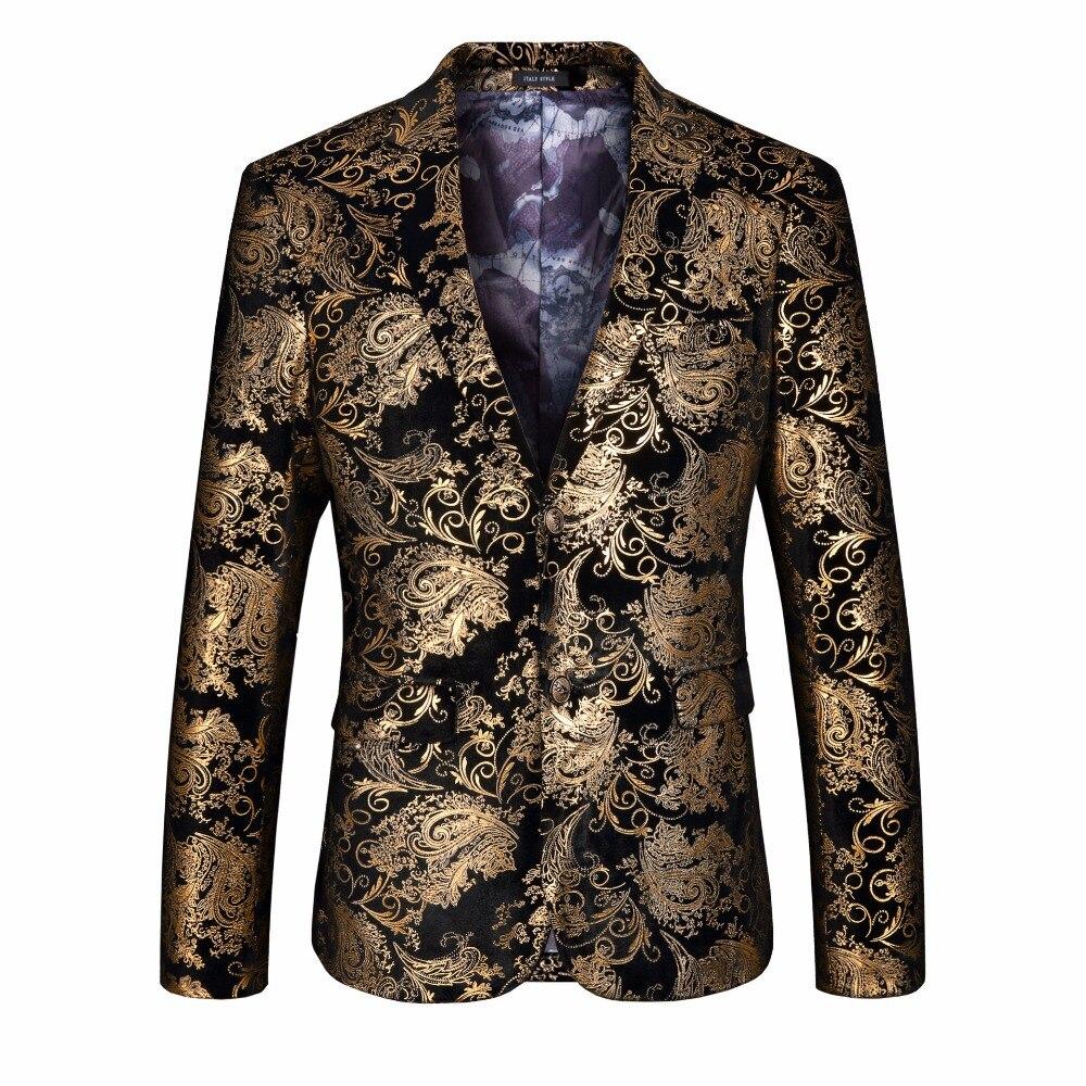 Chaquetas De Hombre Blazers Blazer 2018 Vestes Discothèque Fit Slim Africain Pour Veste Formelle Bal Hommes Mariage Ccasual Or de nFqnxPXIZ
