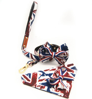 3 sztuk dog pet cat muszka Kołnierz Szal neckchief psa Chustka pies łańcuchowy leash set fajne Brytyjski styl dog puppy Obroża ołów smycz