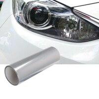 Optycznie przezroczysta lepka folia ochronna 60 CM błyszczący 3 warstwy lampy reflektorów samochodu Protector naklejka foliowa Anti scratch na