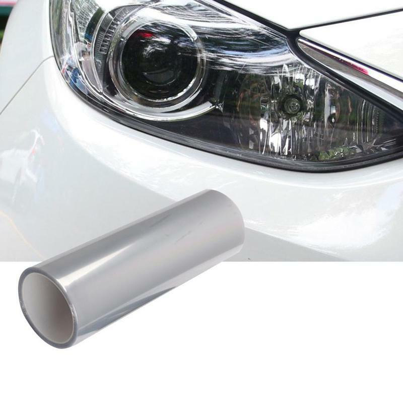 optically transparent viscous protective film 60CM Glossy 3-Layer Car Headlight Lamp Protector Film Sticker Anti-scratch