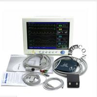 Free Shipping CONTEC CMS8000 CE FDA TFT 12.1' Portable ICU Patient Monitor Multi Parameter SPO2 + NIBP + PR +TEMP + RESP