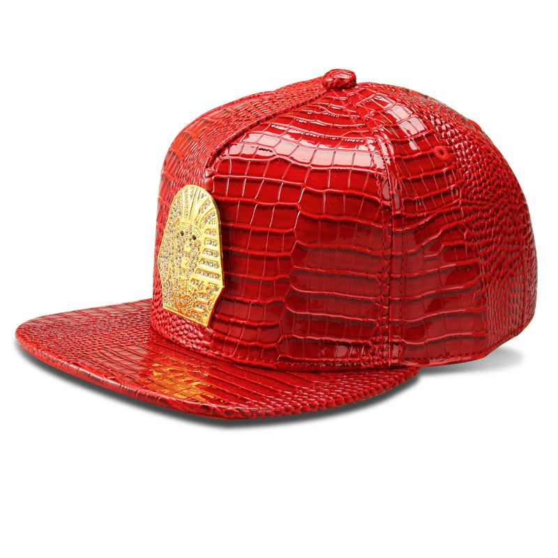2016 Vogue PU Leather Pharaoh Copper baseball caps Golden Crocodile Last  king hip hop hats men women Golf gorras DJ Rap snapback-in Baseball Caps  from ... 3dbbd854b21c
