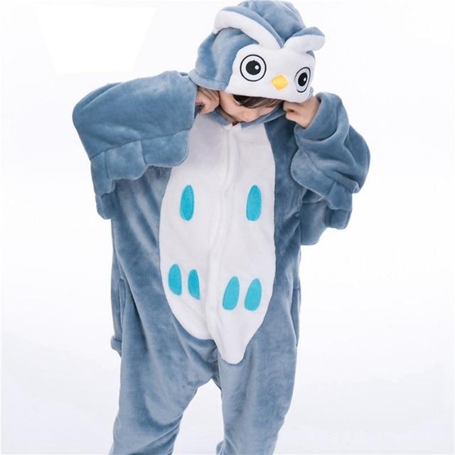 95276d42c7f0 Animal Anime Owl Cosplay Costume Pajamas halloween Unisex Boy Girl ...