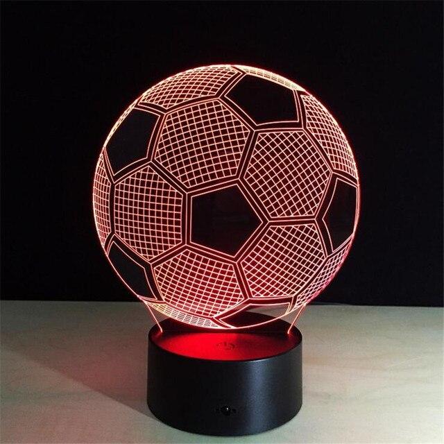 3D LED Bureaulamp Voetbal Sport Nachtlampje voor Voetbal Nachtkastje ...