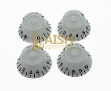 4x White LP Guitar Speed Knobs Top Hat Bell Knobs Fits LP