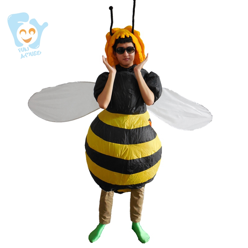 0fdd1d57699d Halloween Costumes For Women Inflatable Bee Costume Cosplay One Piece Fancy  Dress Men Adult
