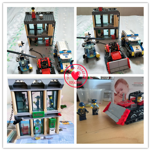 02019 606Pcs City Series The Bulldozer Break-in set Educational Building Blocks Brick Boy Toys Compatible with lego kid gift set lepin 02012 city deepwater exploration vessel 60095 building blocks policeman toys children compatible with lego gift kid sets