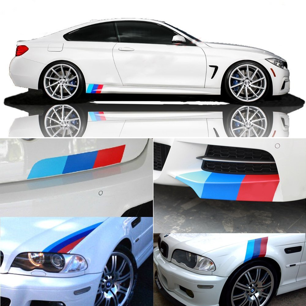 Car design sticker stripes - Aliexpress Com Buy 5 Car Styling Sticker M Colored Racing Stripes Stickers For Bmw Decoration Car Styling Sticker Grille Fender Racing Decals From