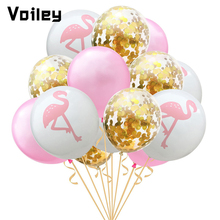 Wedding Decoration 1Set 12inch Pink Flamingo Pineapple Confetti Bride To Be Balloon Baby Shower Hen Party DIY Event Favor Gift,Q