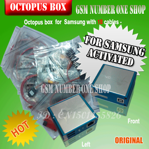 Free Shipping 100 Original Octopus box for Samsung imei repair and unlock with 18 cables