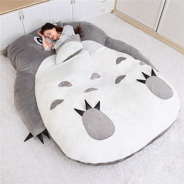 1.5x2.0 m Mon Voisin Totoro Tatami Couchage Double Lit Canapé Pouf Pour Adulte Bande Dessinée Chaude Totoro Tatami de Couchage sac de Matelas