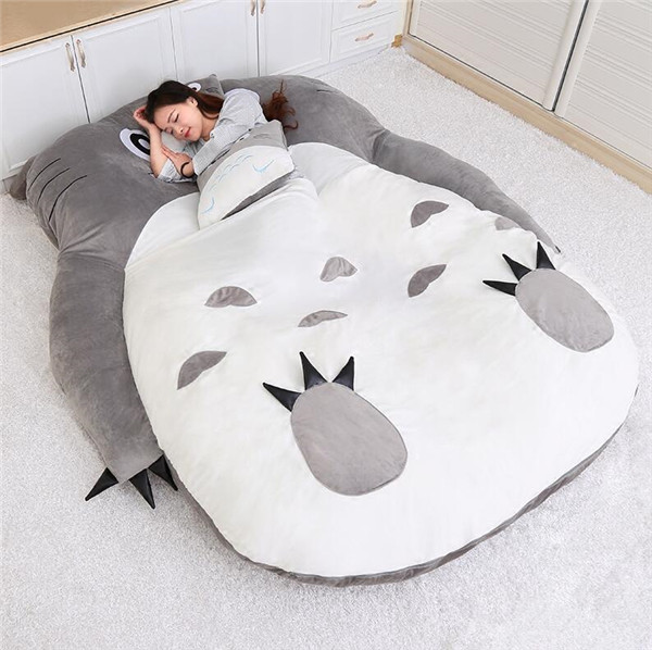 1.5x2.0m My Neighbor Totoro Tatami Sleeping Double <font><b>Bed</b></font> Beanbag Sofa For Audlt Warm Cartoon Totoro Tatami Sleeping Bag Mattress