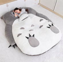 My Neighbor Totoro Tatami Sleeping Double Bed Beanbag Sofa For Kids Audlt Warm Cute Cartoon Totoro Tatami Sleeping Bag Mattress japanese anime gray my neighbor totoro plush bed 210cm x 170cm stuffed totoro sleeping bag cute tatami sofa