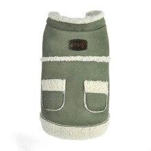 Pet Dog Clothes Cute Soft Winter Coat Fleece Lined Suede Leather Trucker Coats Outwear Hot Sale