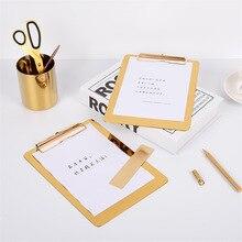 Тонкий Металл золото подстилка хранения офисный стол скандинавский Роскошные элегантные офисные файл Примечание для хранения стол подстилка Органайзер Декор